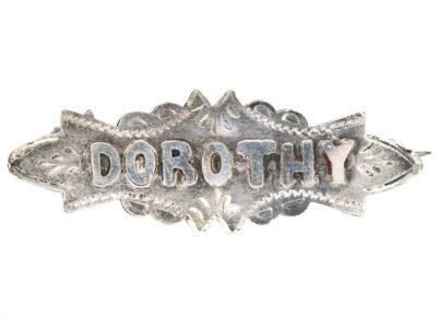 Edwardian Silver Name Brooch Dorothy