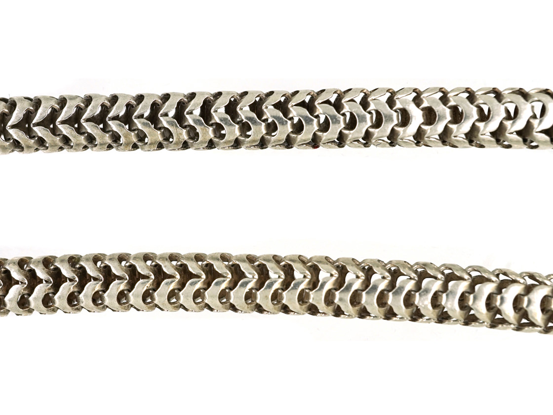 Victorian Silver Snake Chain