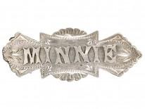 Edwardian Silver Name Brooch Minnie