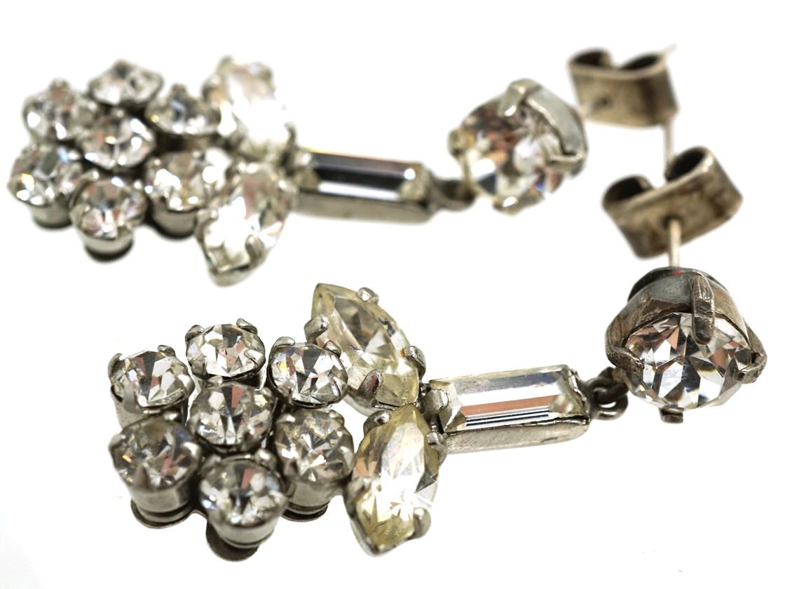 Norman Hartnell Paste Earrings