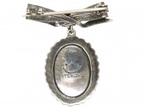 Silver & Marcasite Miniature Brooch With Bow Top