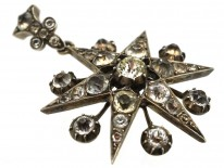 Victorian Silver & Paste Star Pendant