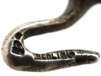 Small Silver & Paste Lizard Brooch