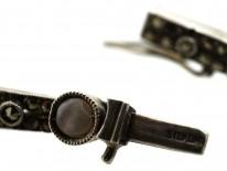 Art Deco Silver & Blister Pearl Bracelet