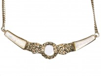 Silver, Mother of Pearl & Marcasite Cheetah Head's Necklace