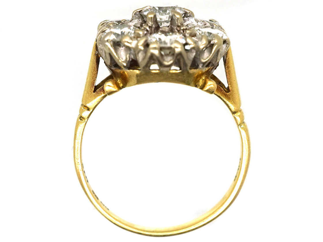 18ct Gold Diamond Cluster Ring