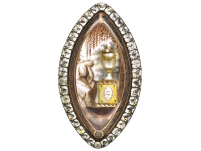Georgian Navette Shaped Mourning Ring