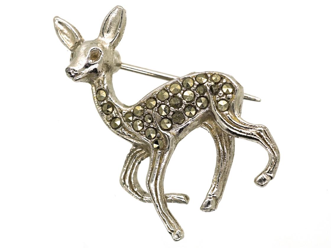 Silver & Marcasite Bambi Brooch