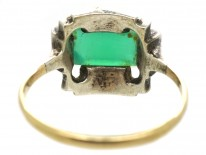 Art Deco Silver, Gold, Marcasite & Chalcedony Ring