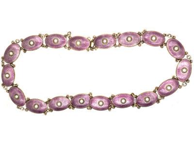 Silver & Enamel Necklace By J. Tostrup