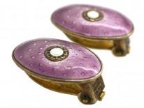 Silver & Enamel Earrings by J. Tostrup