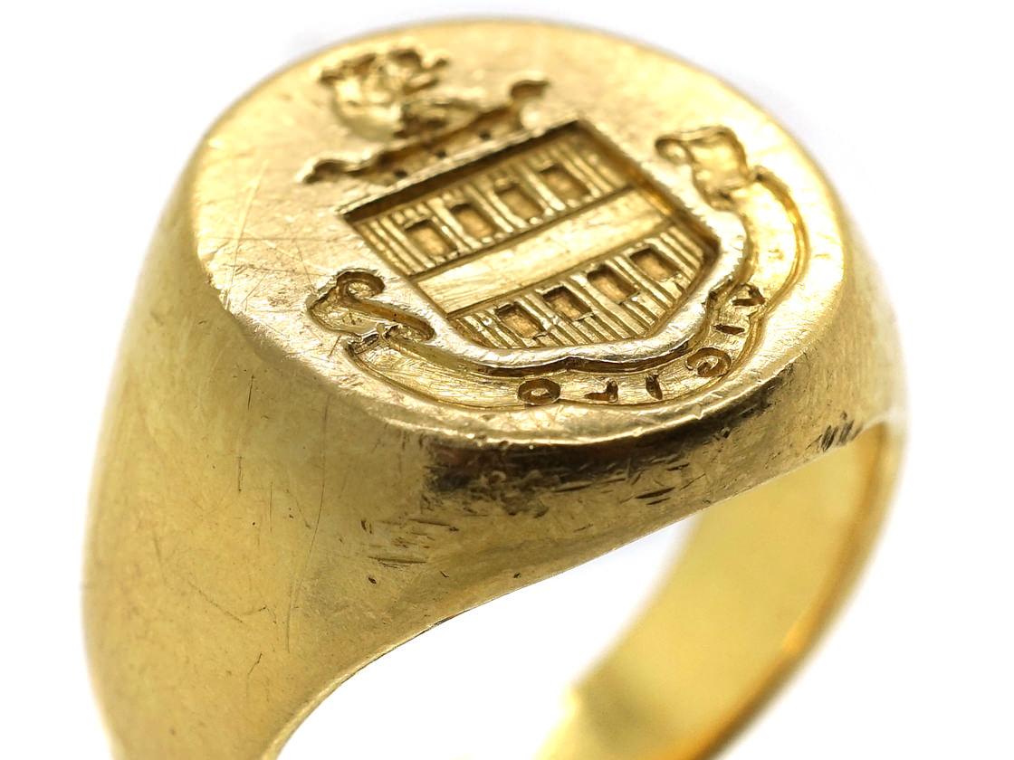 18ct Gold Signet Ring by Tiffany