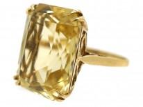9ct Gold & Rectangular Citrine Ring