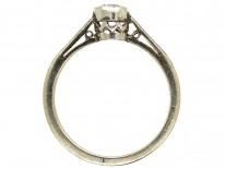 Art Deco 18ct White Gold & Platinum Solitaire Diamond Ring