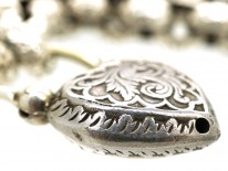 Regency Silver Bracelet With Heart Padlock
