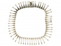 Scandinavian Silver Fringe Necklace
