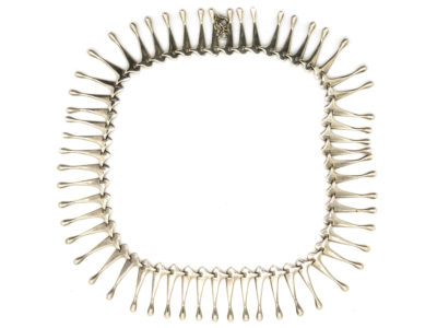 Scandinavian Silver Fringe Necklace