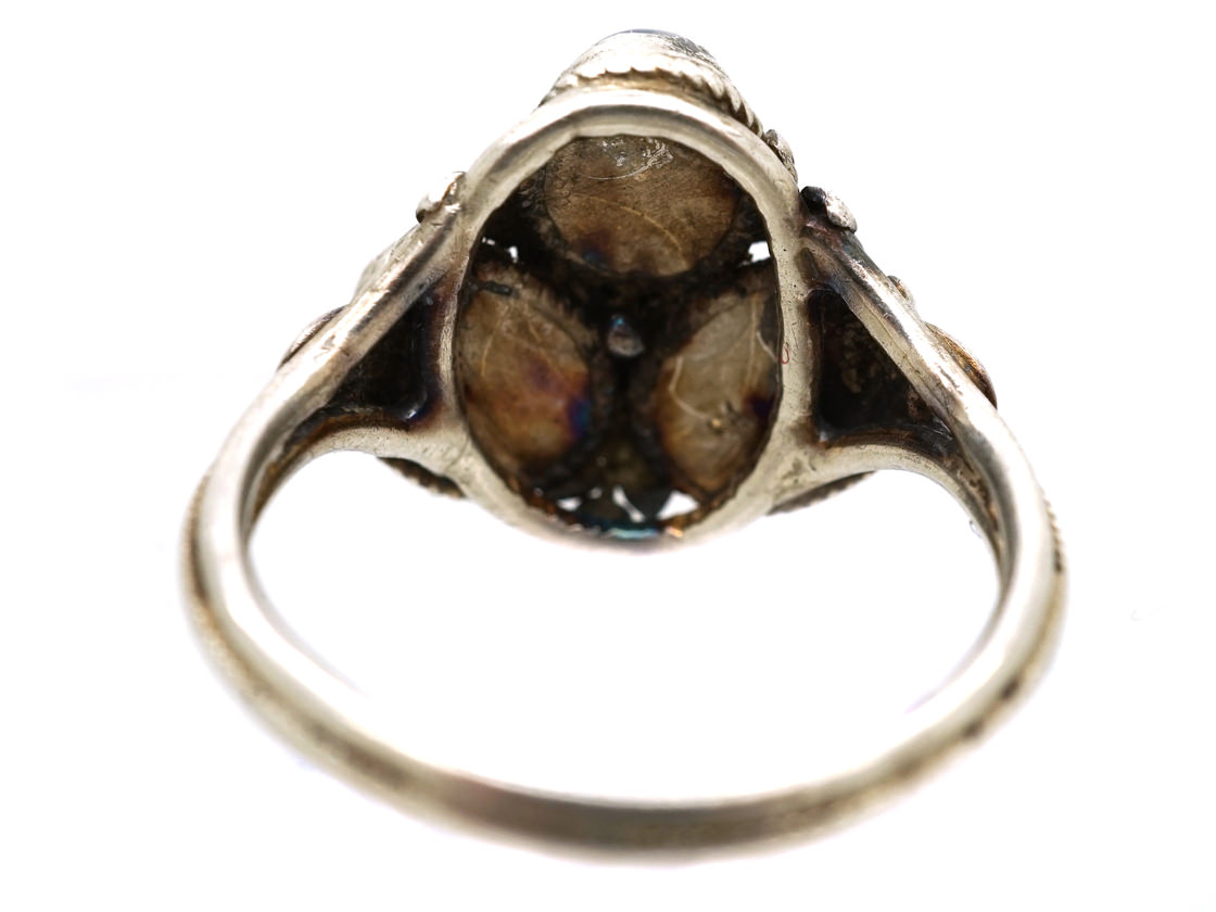 Arts & Crafts Silver & Moonstone Ring Attributed to Henry George Murphy