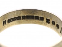 9ct White Gold Engraved Wedding Band