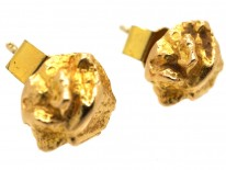 14ct Gold Round Earrings by Lapponia