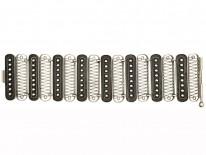 Art Deco Wide Silver Bracelet