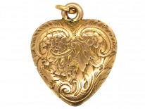 Early Victorian 15ct Gold Heart Pendant