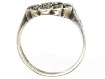Silver & Marcasite Cluster Ring