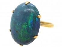 Art Deco 18ct Gold & Black Opal Ring