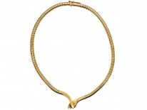 9ct Gold Snake Necklace