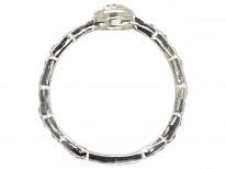 Art Deco Diamond Solitaire Ring With Diamond Set Shank