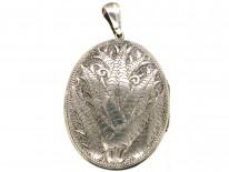 Victorian Double Stripe Silver Locket
