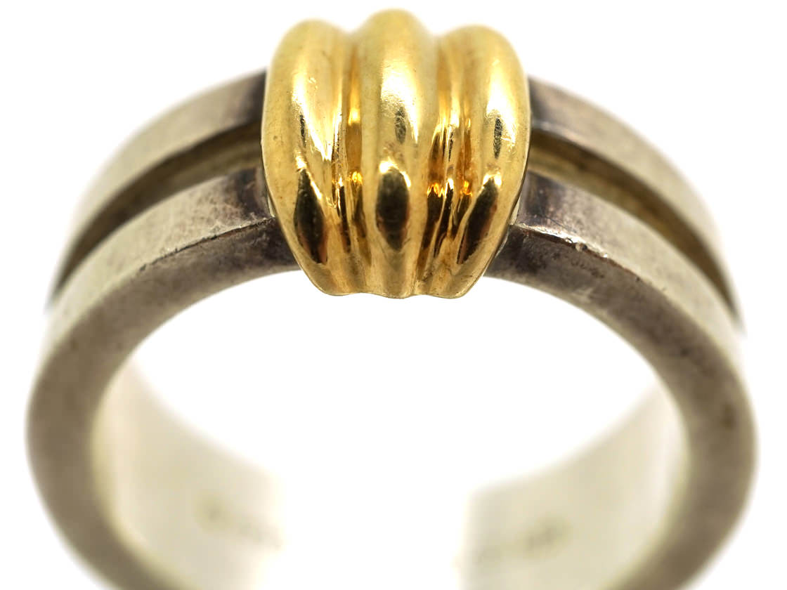 Tiffany Silver & Gold Coil Ring