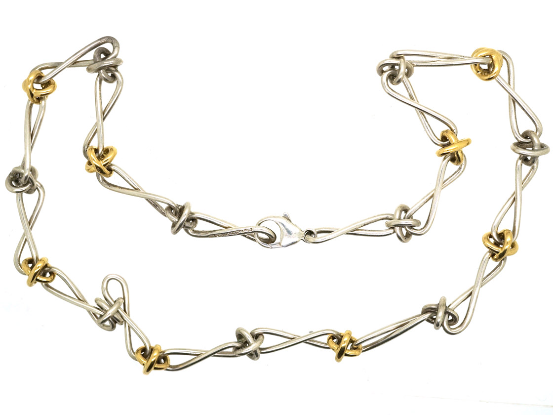 Tiffany Silver Amp Gold Knot Necklace By Paloma Picasso