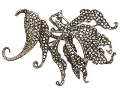 Silver & Marcasite Fantasy Brooch