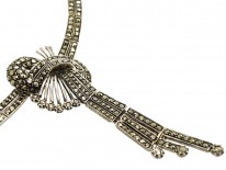 1950s Silver & Marcasite Necklace
