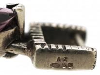 Multi Stone Silver & Marcasite Bracelet