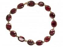 Georgian Gold & Flat Cut Garnet Bracelet