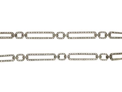 Art Deco Silver & Paste Long Chain Necklace