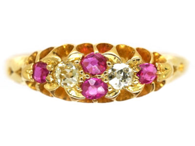 Victorian 18ct Gold, Diamond & Ruby Ring