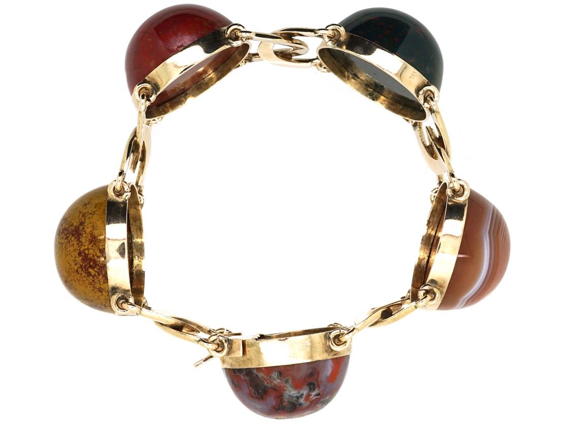 Victorian Scottish Gold & Agate Bracelet
