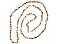Edwardian 9ct Gold Prince of Wales Twist Chain