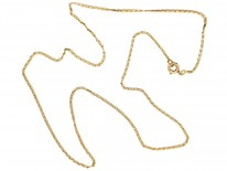 French 18ct Gold Fine Woven Chain