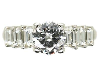 18ct White Gold Seven Stone Diamond Ring