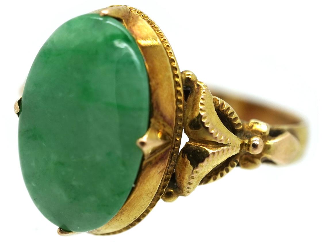 14ct Gold & Jade Ring