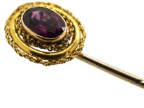 Victorian 15ct Gold & Almandine Garnet Tie Pin