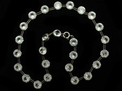 Art Deco Silver & Paste Necklace