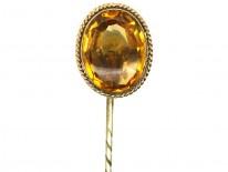 Edwardian 9ct Gold & Citrine Tie Pin