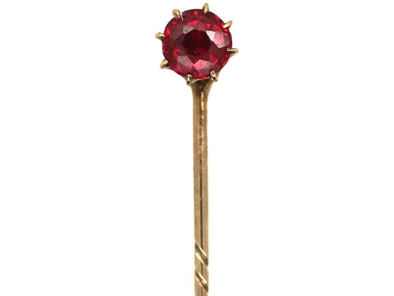 9ct Gold & Garnet Tie Pin