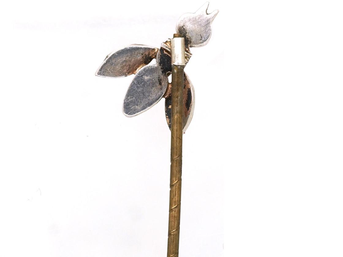 Georgian Silver & Coloured Paste Tie Pin of a Bug