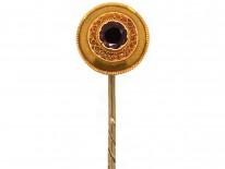 Victorian 15ct Gold & Garnet Tie Pin
